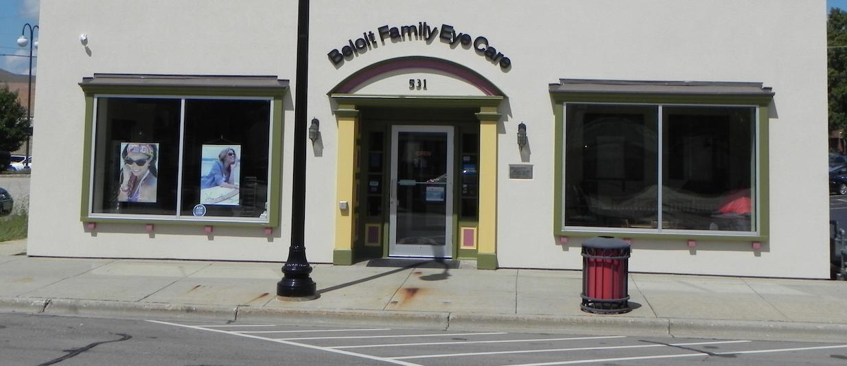 exterior of beloit family eye care